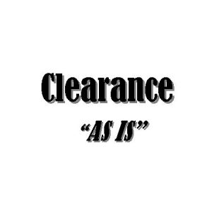 "Clearance Items - ""As Is"""